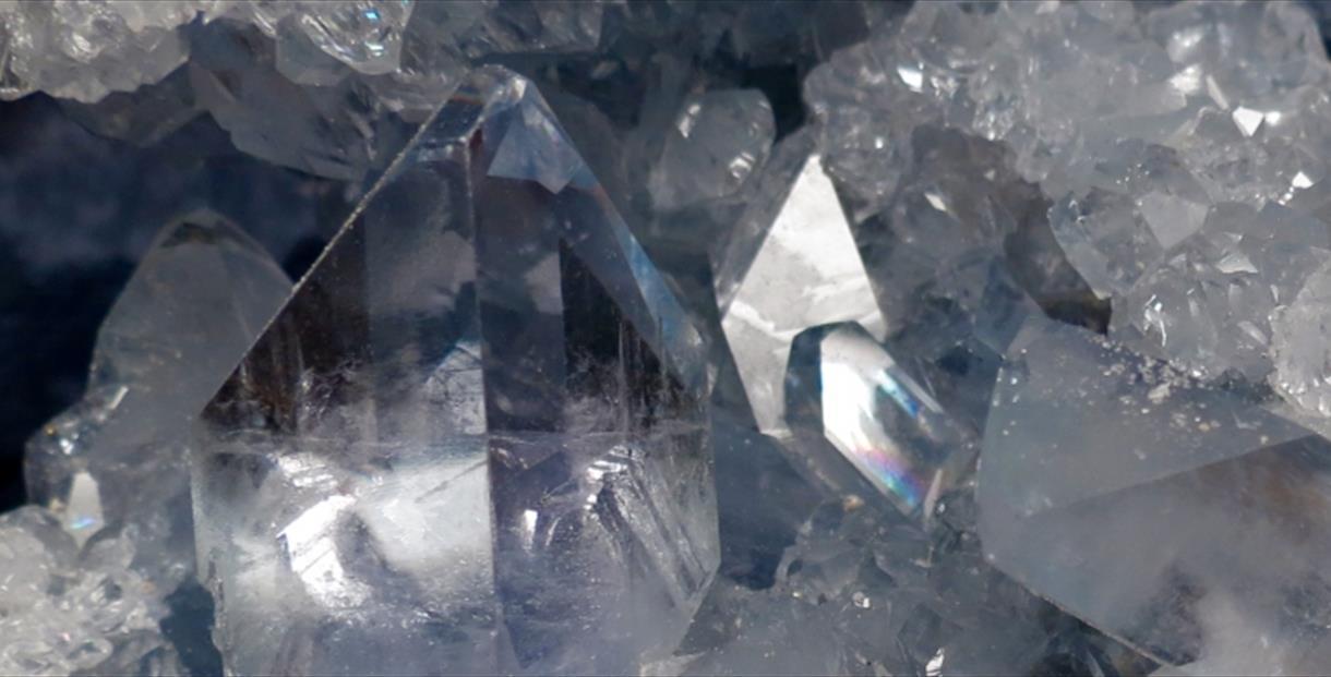 Close up of crystals