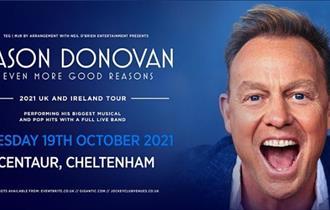 Jason Donovan at Cheltenham Racecourse