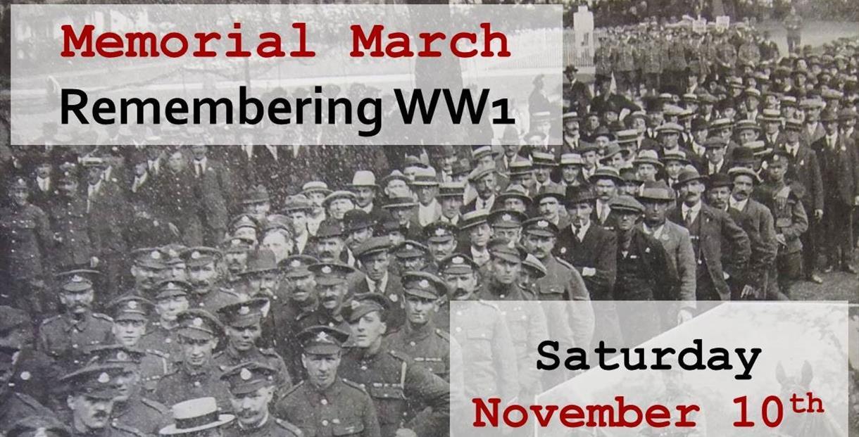 Cheltenham Remembers - WW1 Memorial March