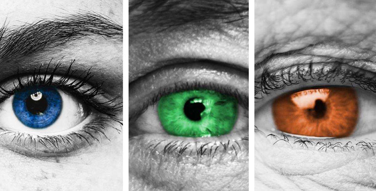 Close up of peoples eyes