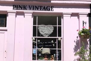 Exterior of Pink Vintage