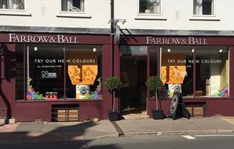 Exterior of Farrow & Ball