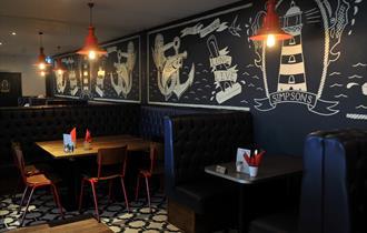 Simpsons Fish and Chips Cheltenham, restaurant interior