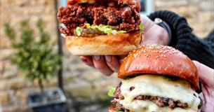 Burger at Cotswold Farm Park