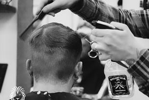 Man having his hair cut