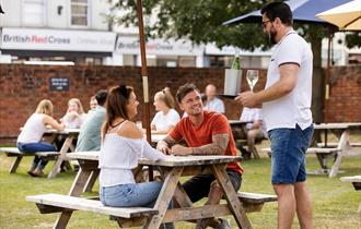 The Exmouth Arms beer garden, Bath Road, Cheltenham