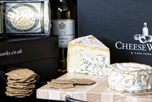 Selections of cheeses with crackers