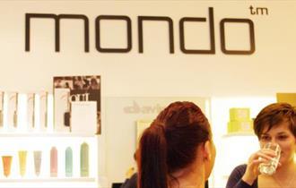 Interior of Mondo Salon