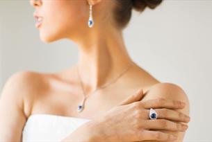 Women wearing sapphire jewellery