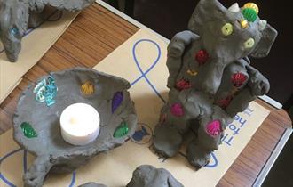 Image of clay lanterns