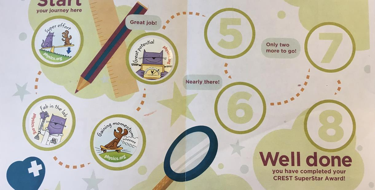 Drop-in STEM club: collect 8 stickers for a certificate and a badge
