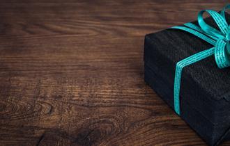 Gift box with ribbon