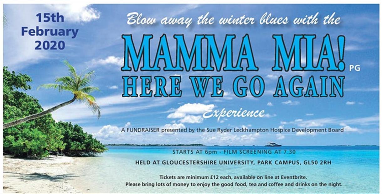 Mamma Mia Screening for Sue Ryder Leckhampton Hospice