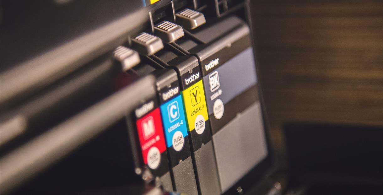 Close up of a printer