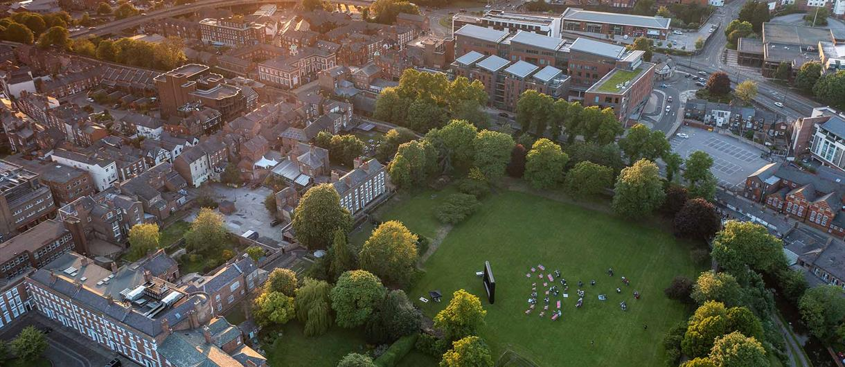 Aerial Shot of Chester