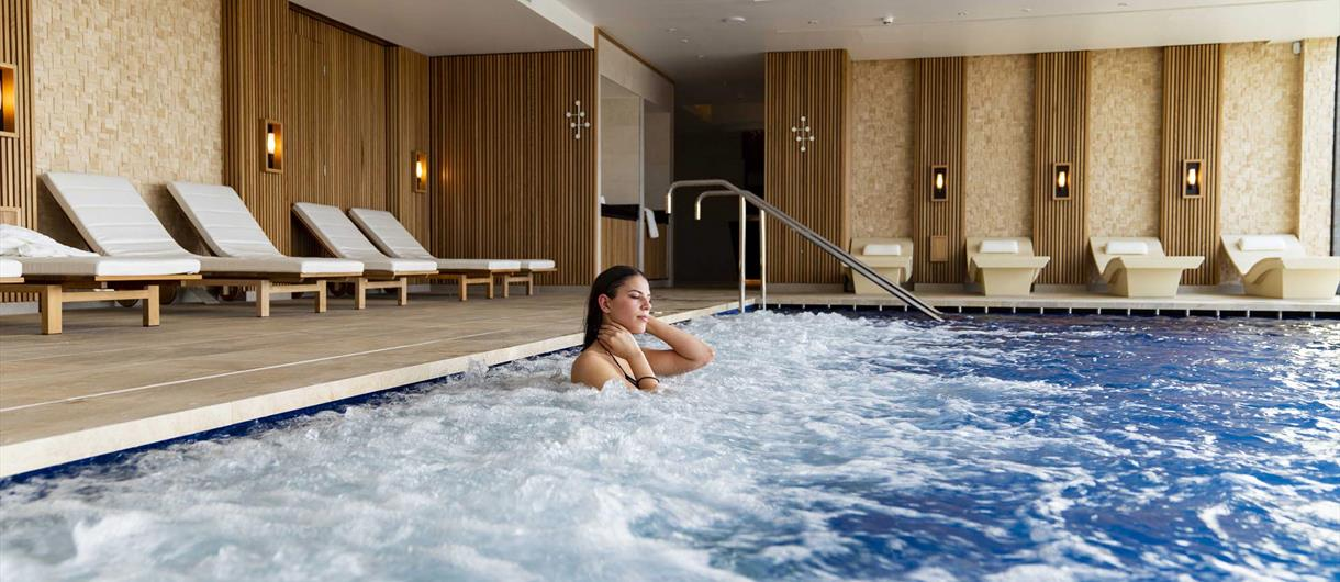 Woman in a pool at the Spa at Carden