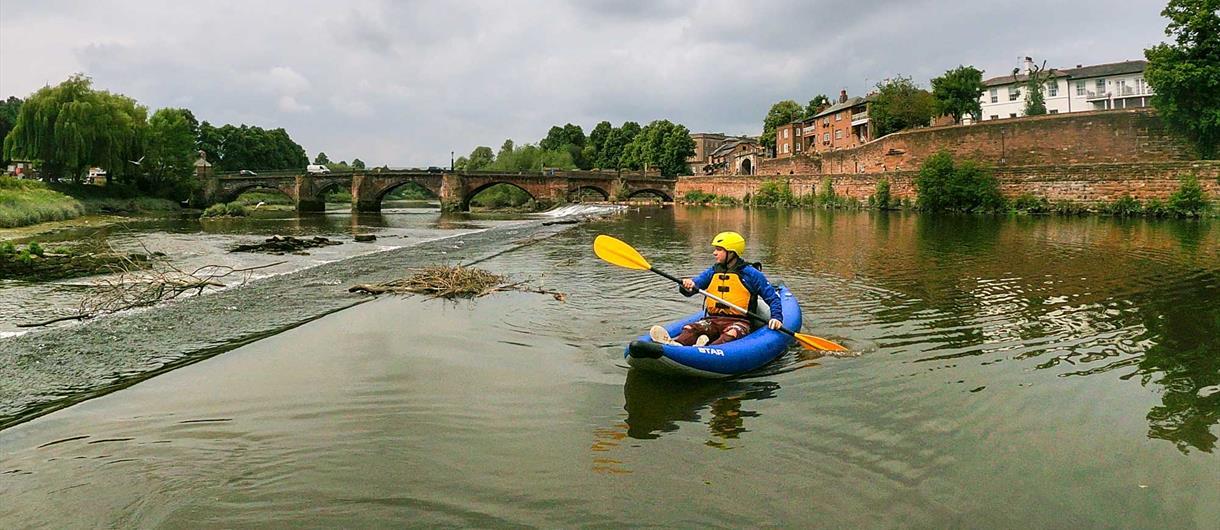 Kayaking on the River Dee. Photo Credit: Dee River Kayaking