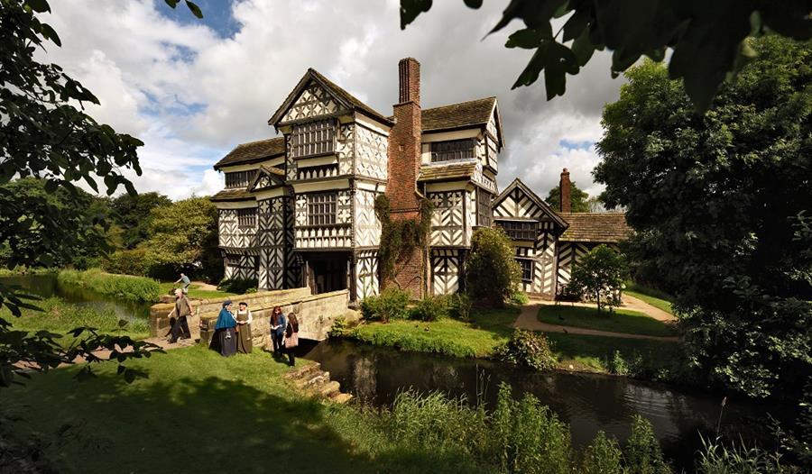 Little Moreton Hall, A charming Tudor House. c. National Trust.