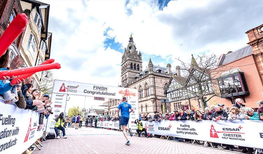 Runners at the Chester Half Marathon