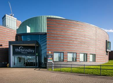 The exterior of The Brindley Theatre