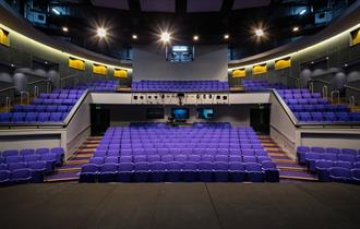The Brindley Theatre - 400 seat Theatre, 108 seat Studio, Gallery Space, Creative Display Cabinet, Education Room, Digital Cinema, Theatre Bar and Ter