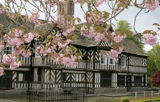 The timbered hall at Adlington Hall & Garden