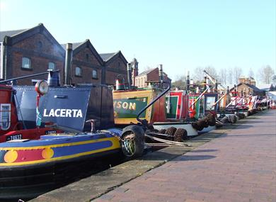 The Boat Museum Cafe has lovely views across the canal basin site and includes a range of tasty sandwiches, cakes, snacks and light meals