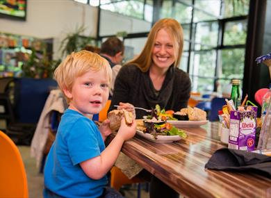 Grab lunch or a drink and a snack at the onsite cafe at Anderton Boat Lift