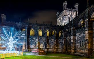 Chester Cathedral at Christmas. credit Mark Carline