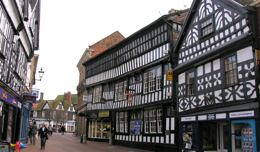 Nantwich is famous for the medieval timbered buildings dotted around the town