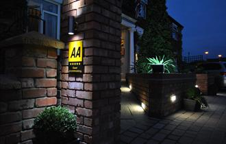 Entrance to Stone Villa Chester