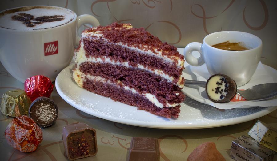 Leonidas Chocolate cafe offers homemade delicious cakes