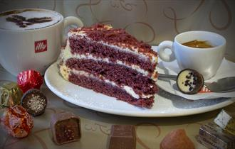 Leonidas Chocolate cafe offers homemade delicious cakes
