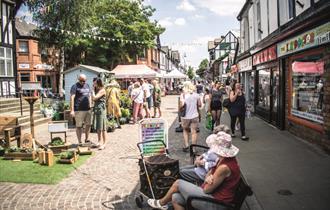 Northwich Artisan Market Crowds and Stalls