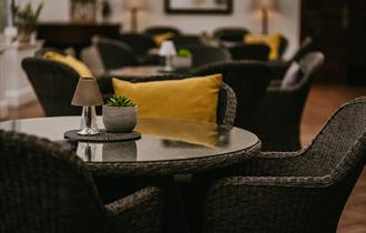 Restaurant at Rowton Hall luxury wedding
