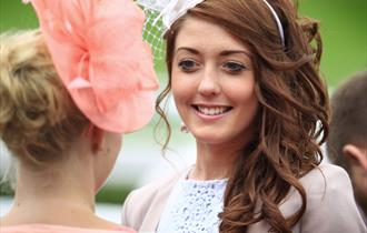Two women at Ladies Day at Chester Races