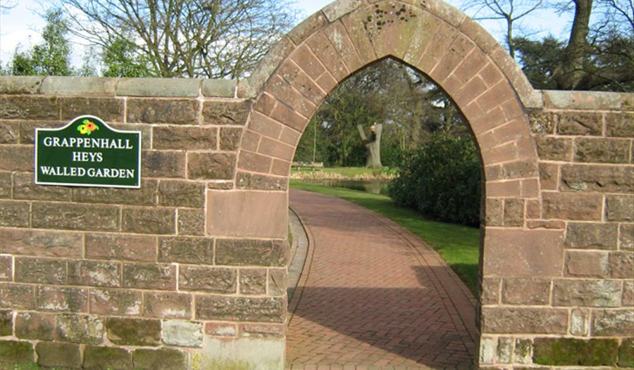 Grappenhall Heys Walled Garden founded by Thomas Parr