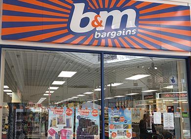 B&M Bargains store front