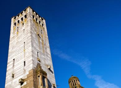 Gaskell memorial tower in Knutsford
