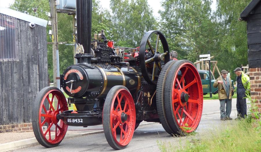 Large steam traction engine at the Lion Salt Works Museum