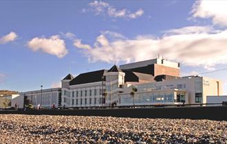 View of Venue Cymru from the Beach