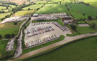 Aerial shot of Aqueduct Marina and Caravan Park