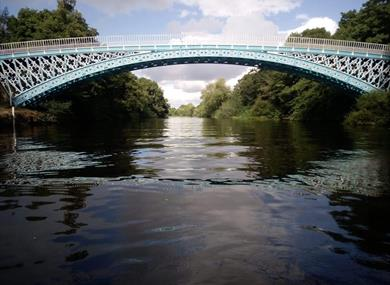 Aldford Iron Bridge on the Duke of Westminster's Eaton Estate