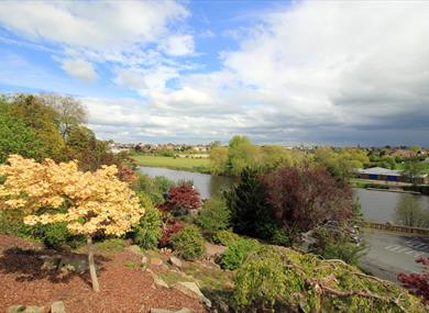View of the River Dee from Grosvenor Park. Photo credit Jeff Buck