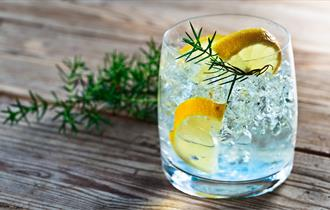 Tumbler of gin