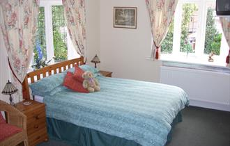 Typical bedroom at Lavender Lodge Bed and Breakfast