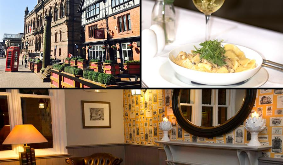 The Coach House Inn is an award winning restaurant which prepares locally sourced ingredients.