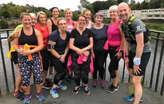 People on a Chester running tour