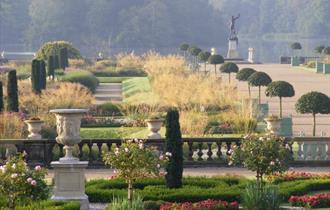 Italian Garden at Trentham Gardens in Summer