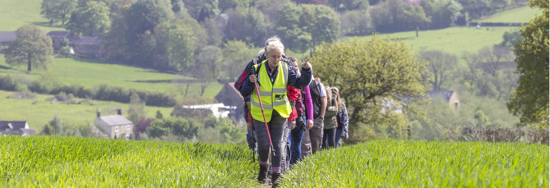 Walkers at the Chesterfield Area Walking Festival